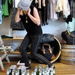 Styling workshops for students. Diesel Peroni Legara installation with TAFE Visual Merchandising students