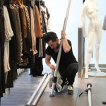 Styling workshops for students. DIRECTIONS window installation with TAFE Visual Merchandising students