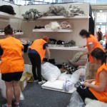 Styling workshops for students. REED Gift Fair - Exhibitor BRITT Design, prep with TAFE VM students