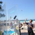 Window Space - casting pledges for cleaner oceans & beaches. Ocean Care Day, Manly Beach